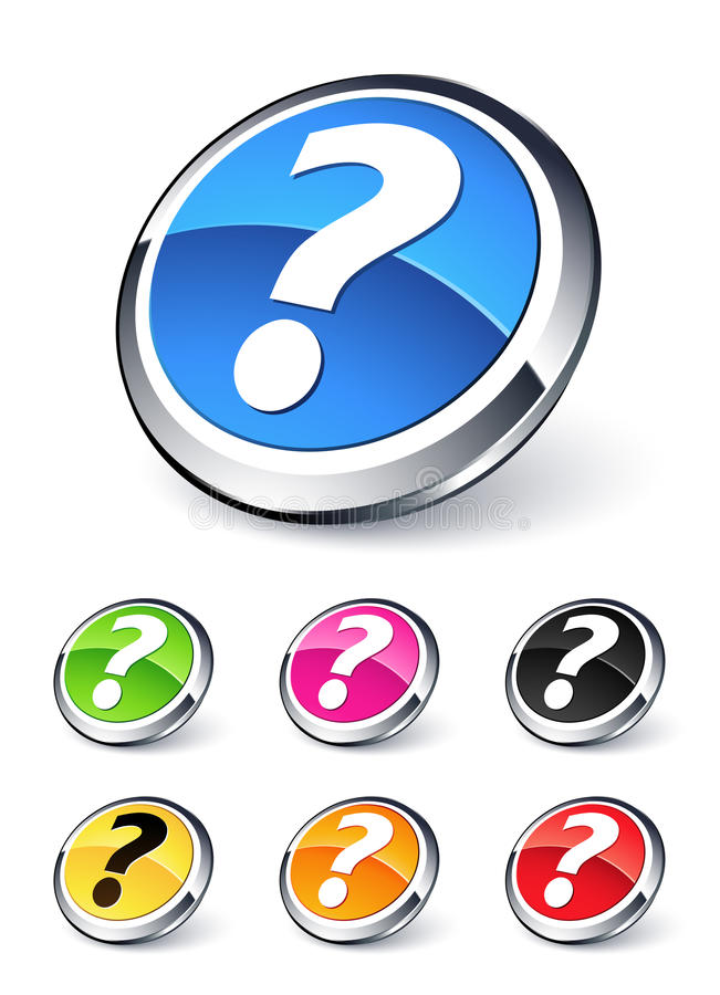 Question Button Royalty Free Stock Photo