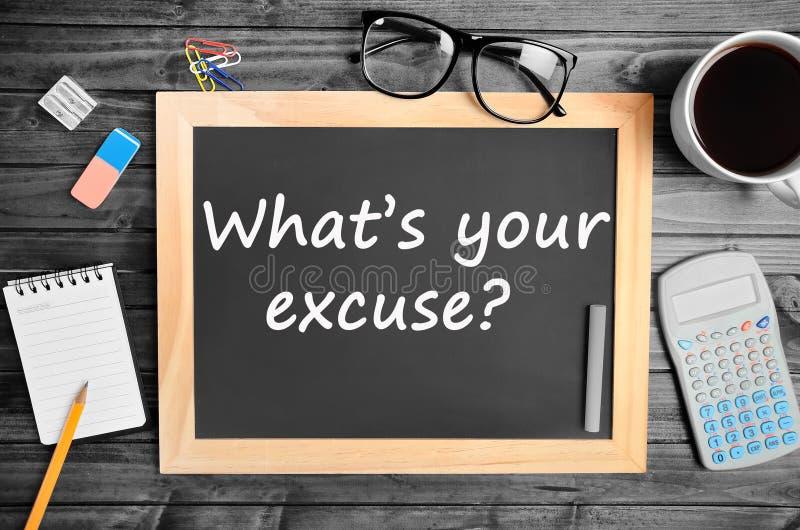 Question ce qui est votre excuse images libres de droits