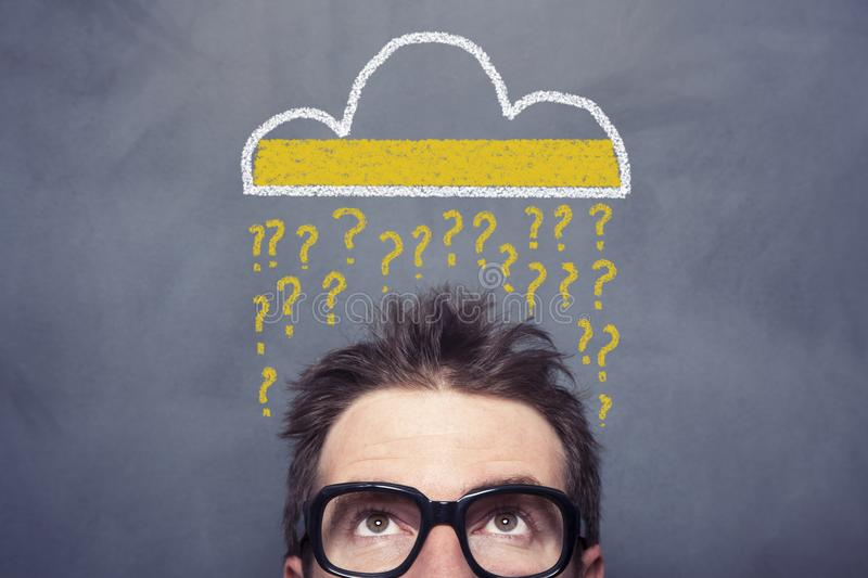 Question Cloud stock photos