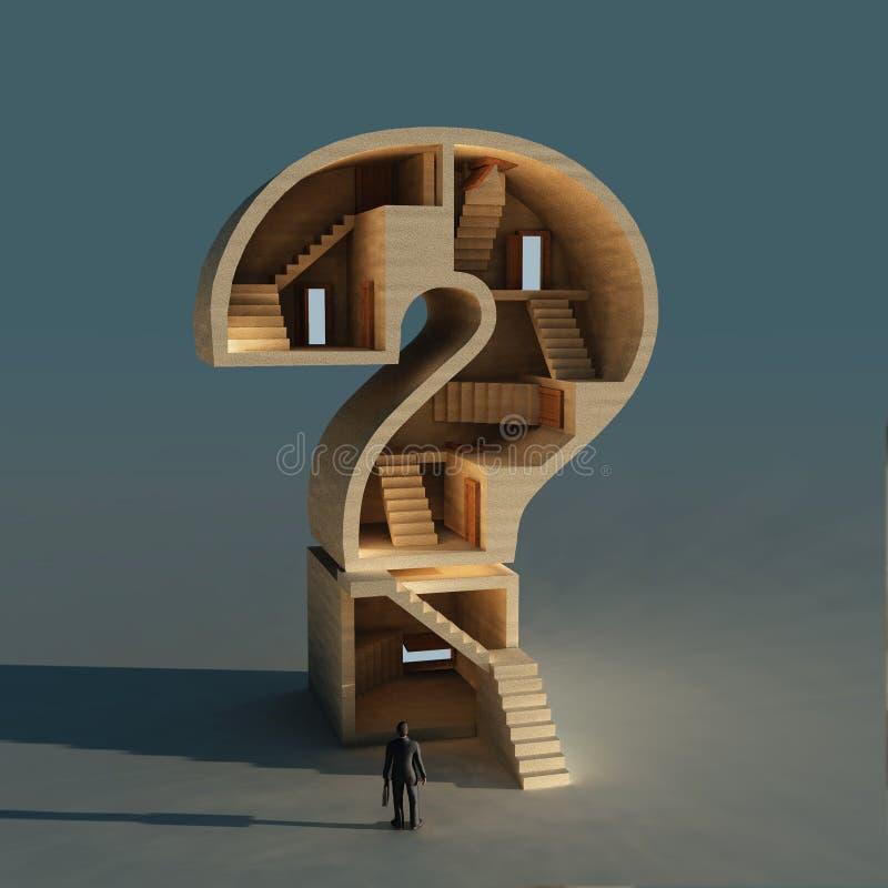 Question compliquée d'affaires illustration de vecteur