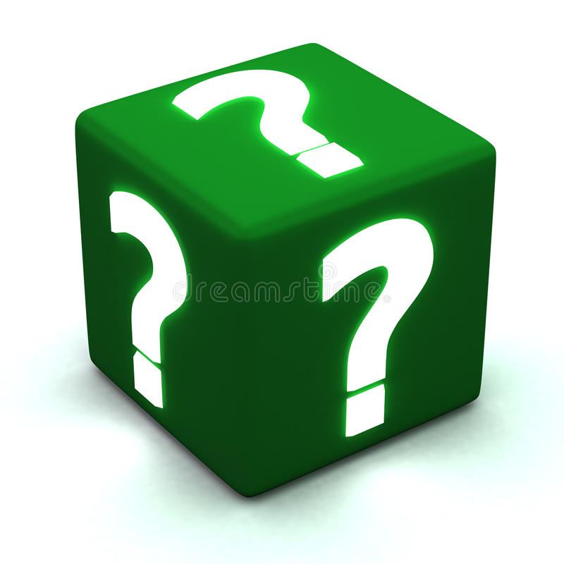 Download Question cube 3d stock illustration. Image of button - 26821043