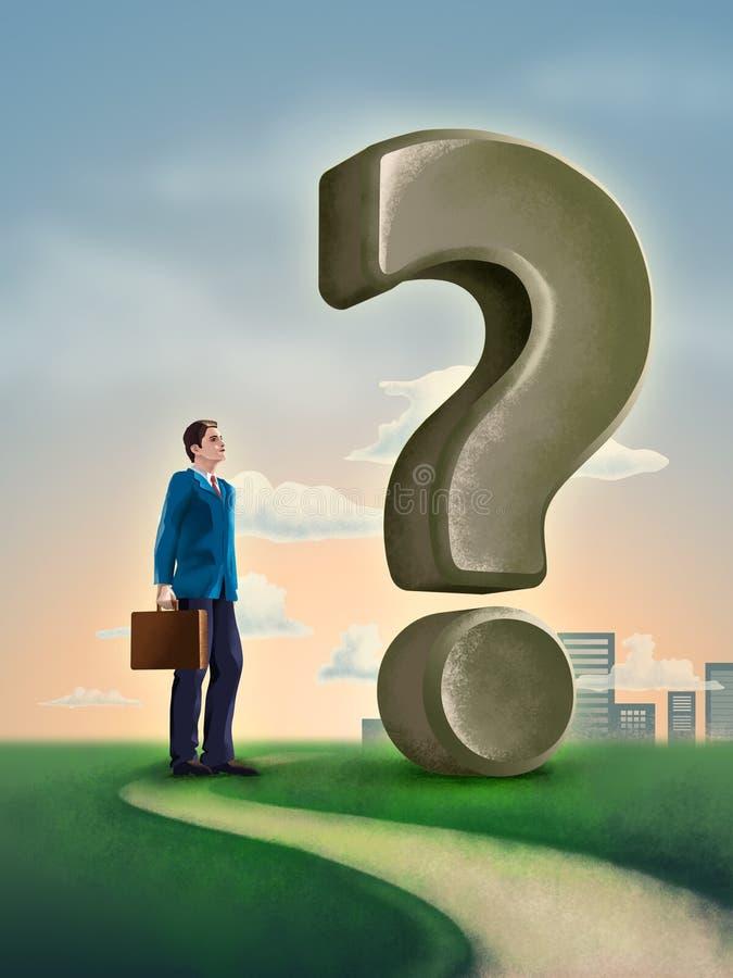 Question d'affaires illustration stock