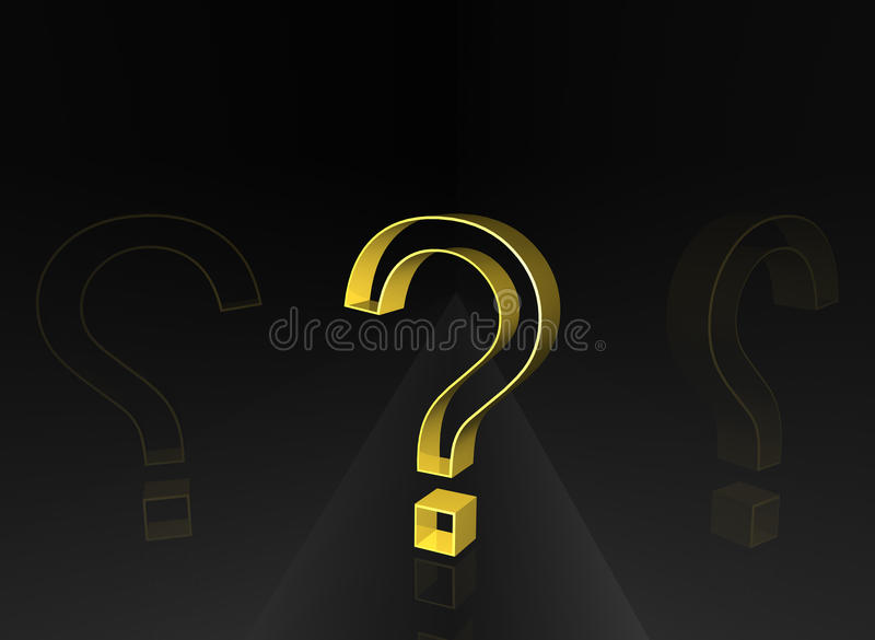 Question on dark path. 3d Question on dark path stock illustration