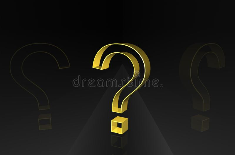 Question on dark path royalty free stock photo
