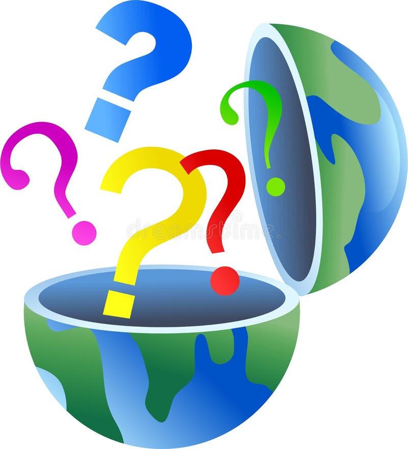 question de globe illustration stock