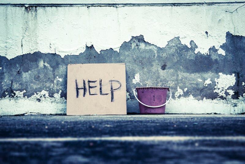 Question de pauvreté image stock