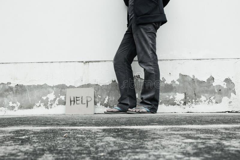 Question de pauvreté photographie stock