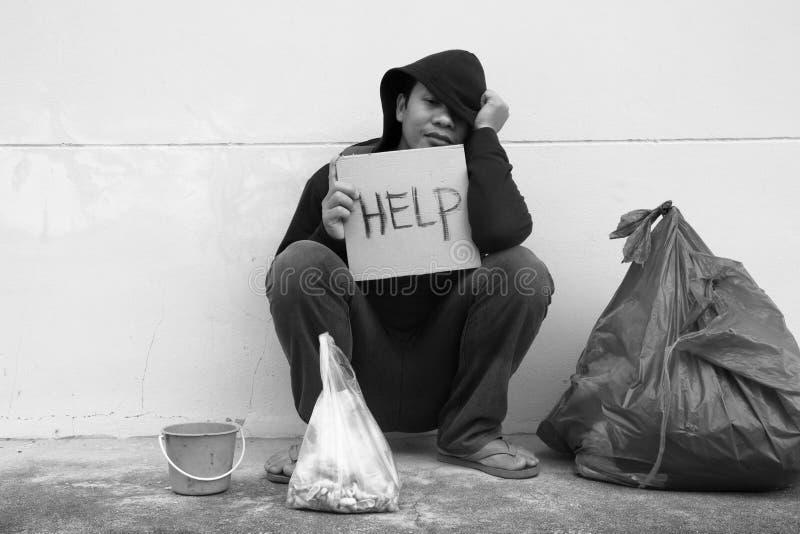 Question de pauvreté image libre de droits