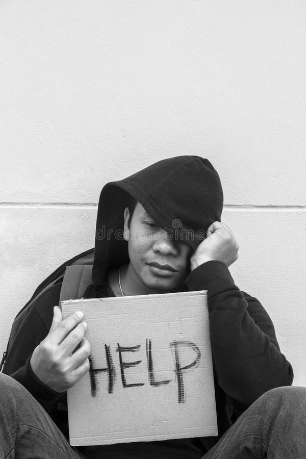 Question de pauvreté images stock
