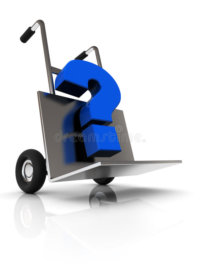 Download Question delivery stock illustration. Image of white - 14130642