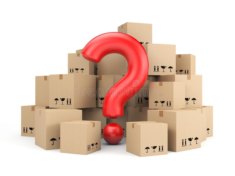 Download The Question Of Delivery Stock Illustration - Image: 39017195