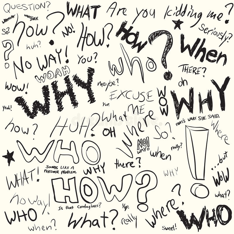 Question Doodles stock illustration