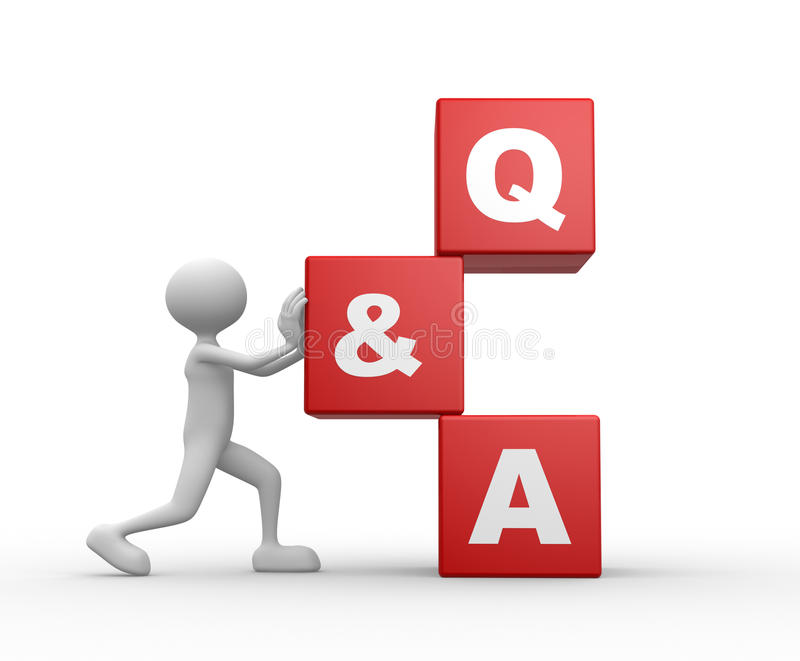 Question et réponse - Q&A illustration stock