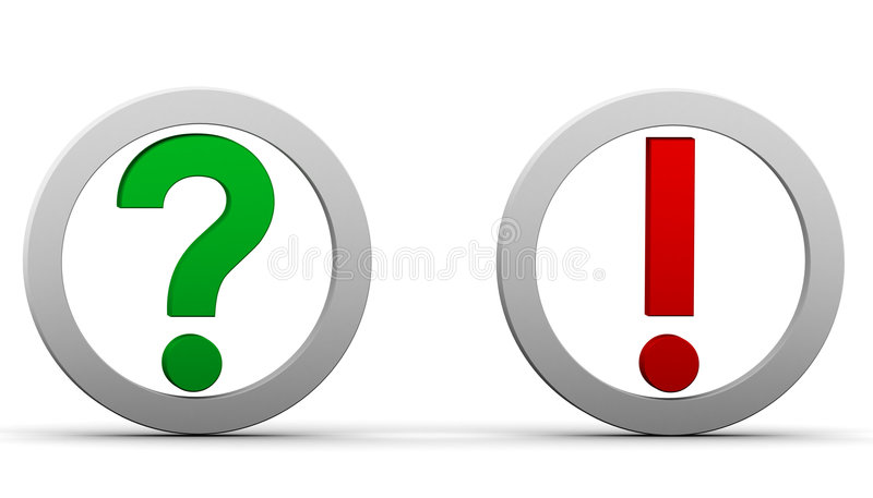 Question Exclamation Marks Royalty Free Stock Image