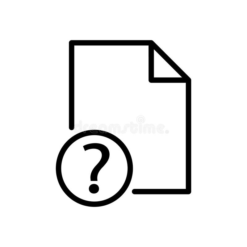 Question file icon, vector illustration. On white background vector illustration
