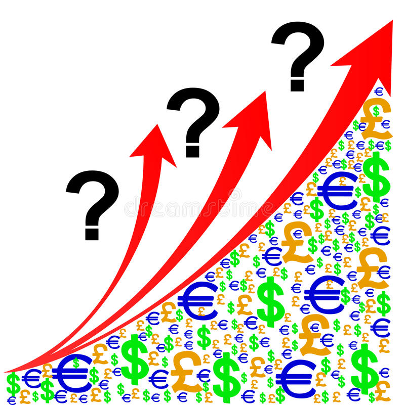 Question growth chart stock illustration
