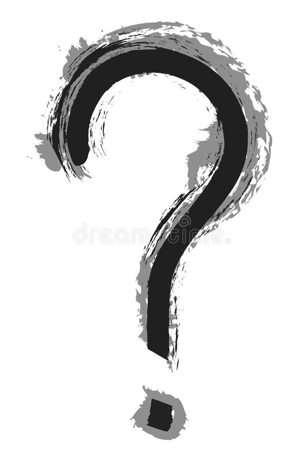 Question grunge stock photo