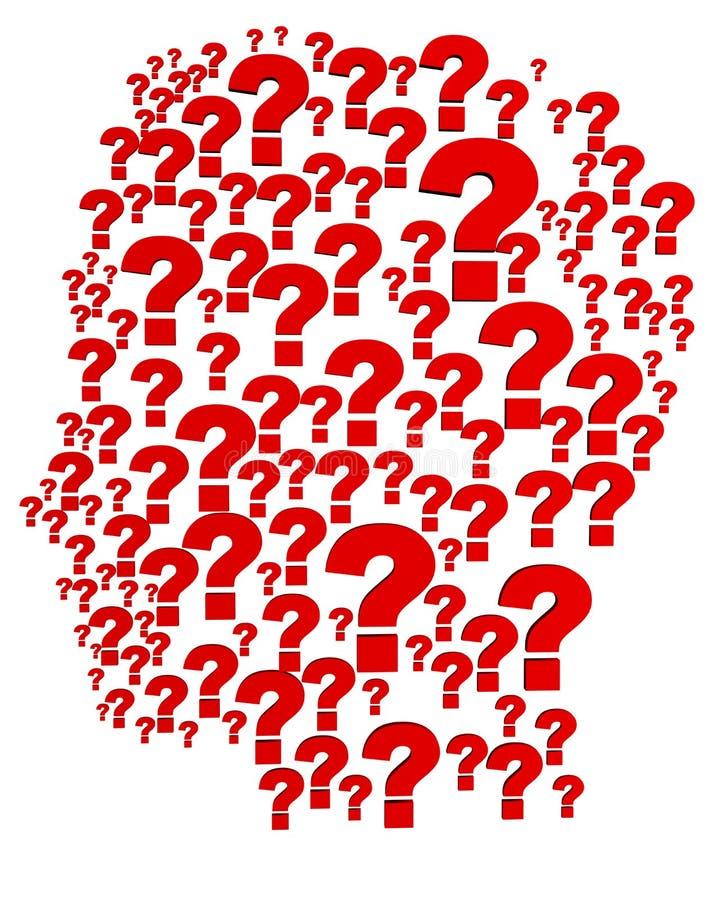 Question head vector illustration
