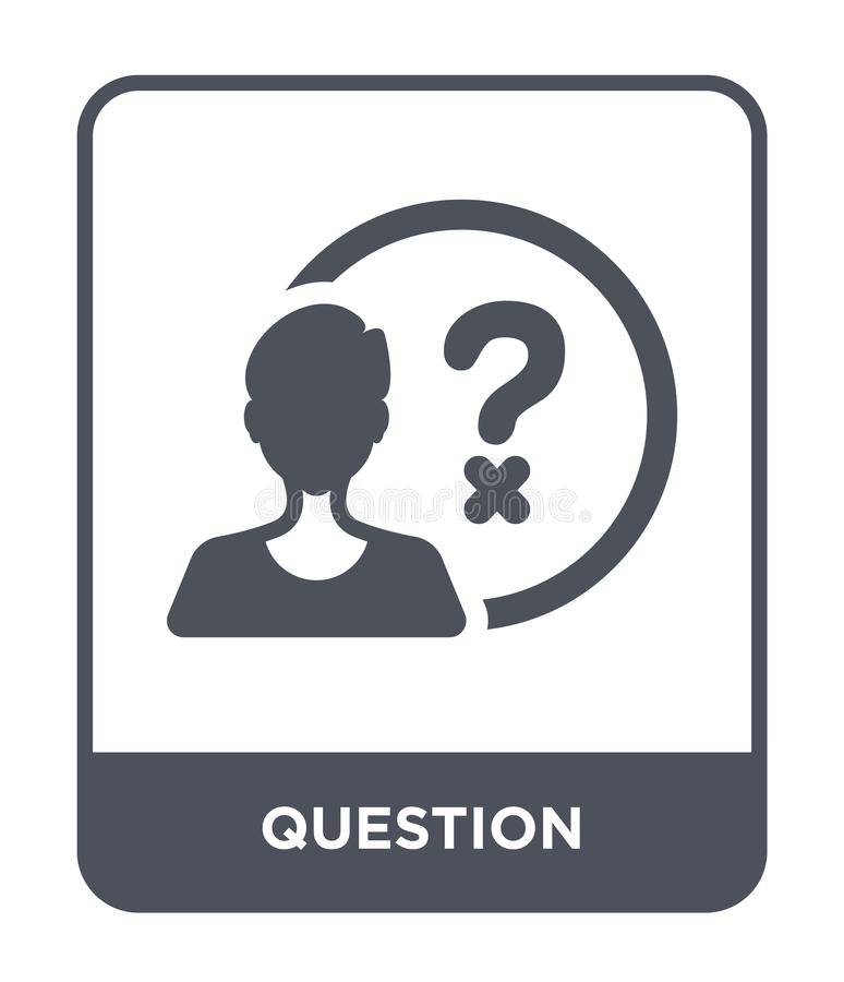 question icon in trendy design style. question icon isolated on white background. question vector icon simple and modern flat stock illustration