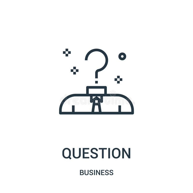 question icon vector from business collection. Thin line question outline icon vector illustration. Linear symbol for use on web vector illustration