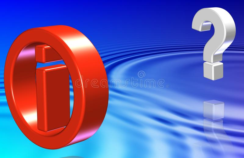 Download Question and information stock illustration. Image of illustration - 28930420
