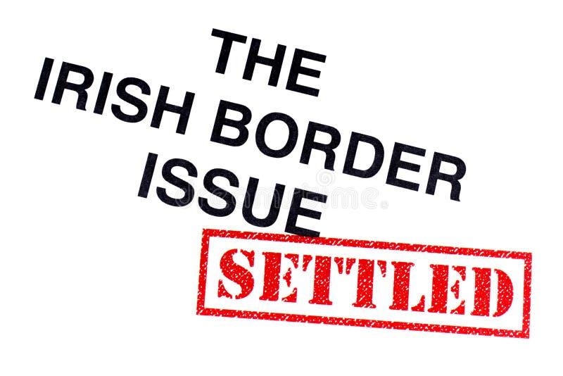 Question irlandaise de frontière réglée illustration libre de droits