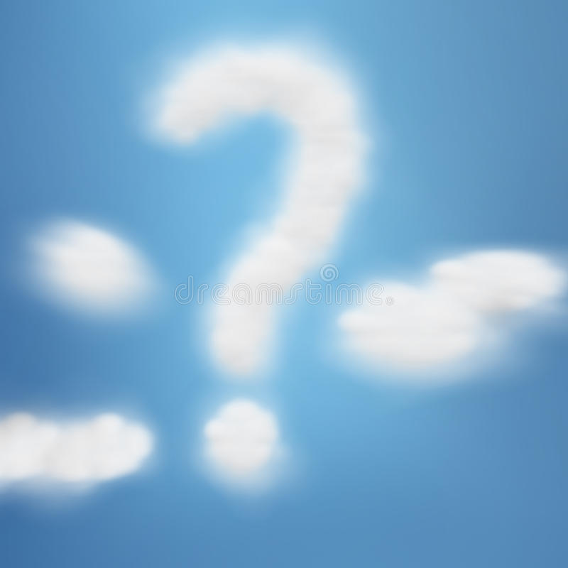Question In Sky Royalty Free Stock Image