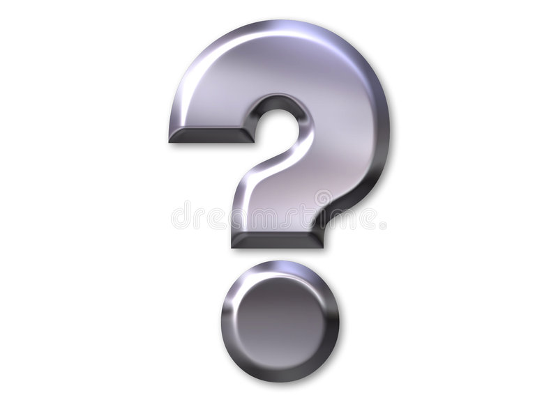 Question mark royalty free stock image