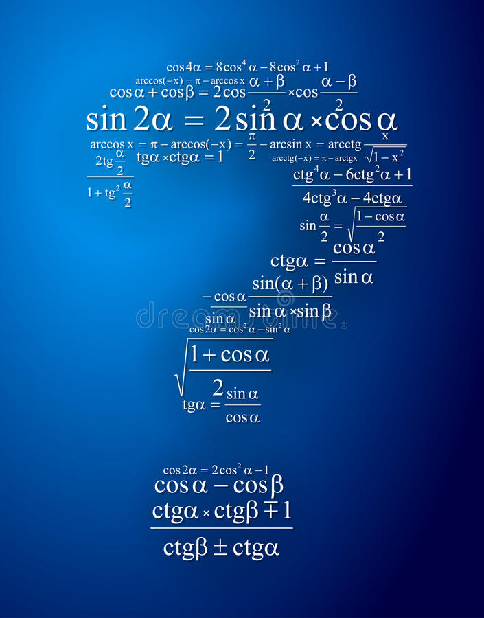 Question mark. To create one of the mathematical formulas vector illustration