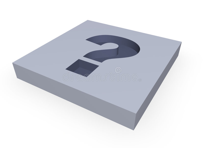 Question mark stock image