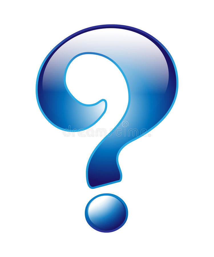 Question mark royalty free illustration