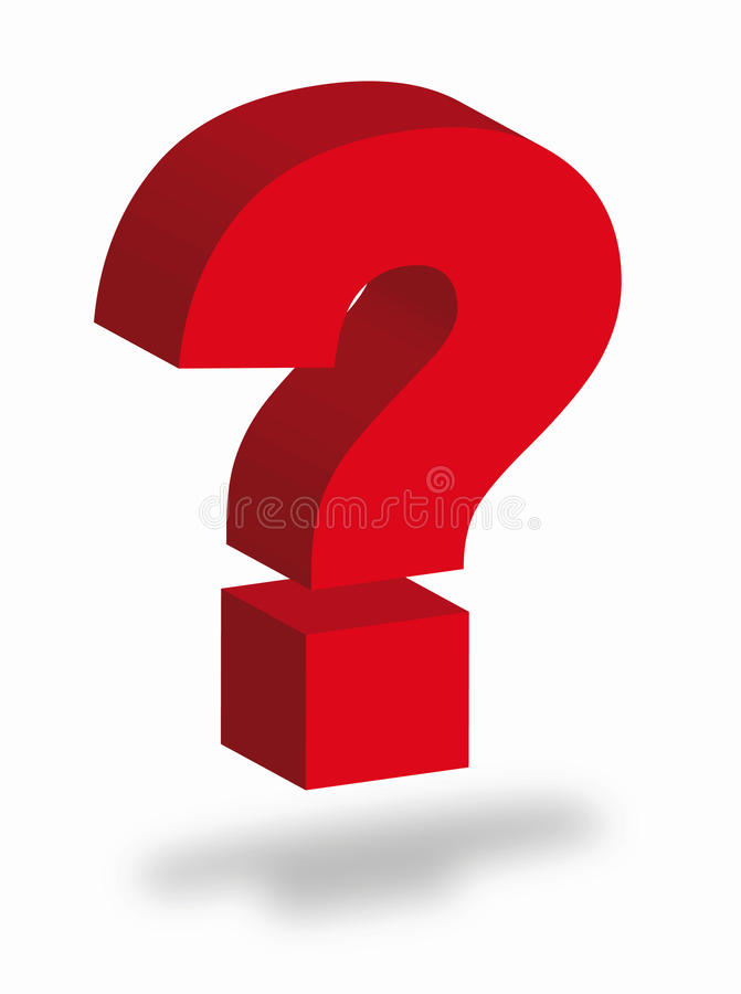 Question mark vector illustration