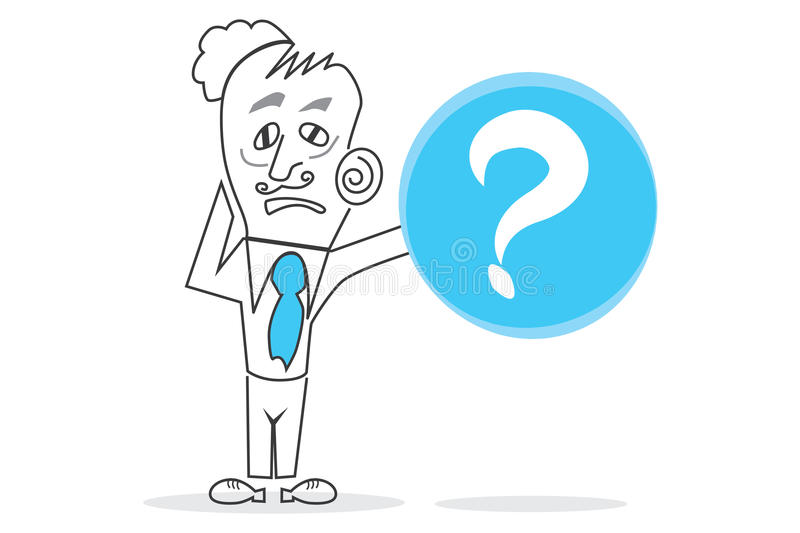 Question mark. Abstract design can be used in many jobs royalty free illustration