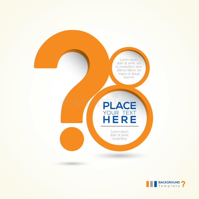 Question Mark Abstract Design Layout vector illustration