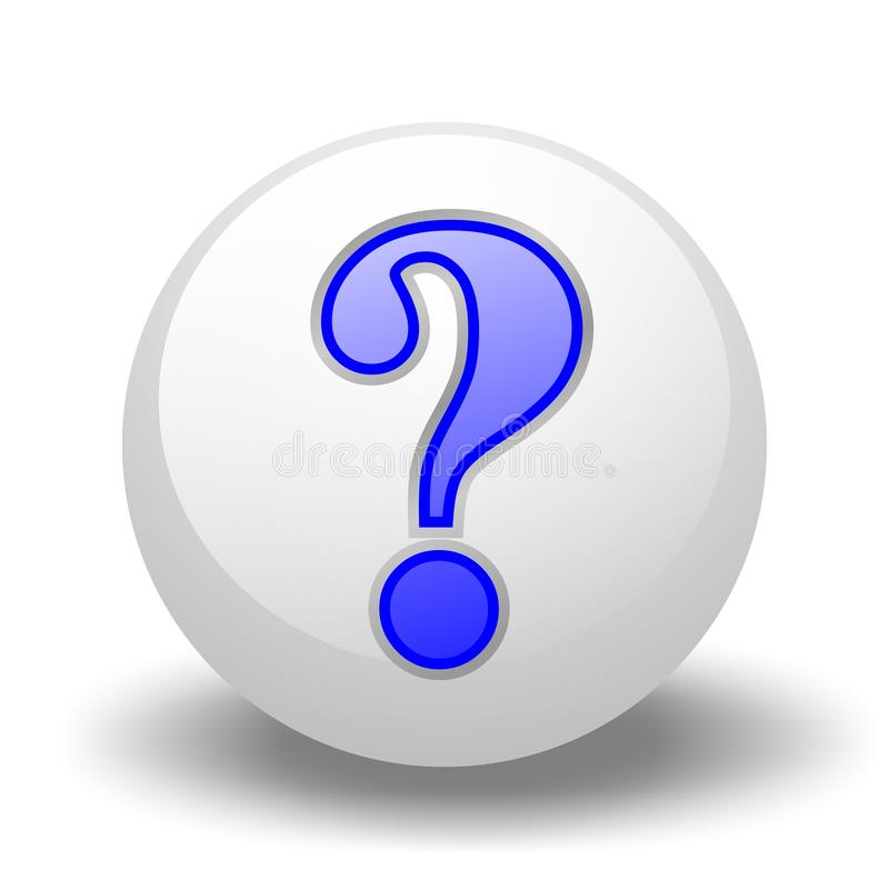 Download Question-Mark On Ball stock illustration. Image of perplexity - 11298028