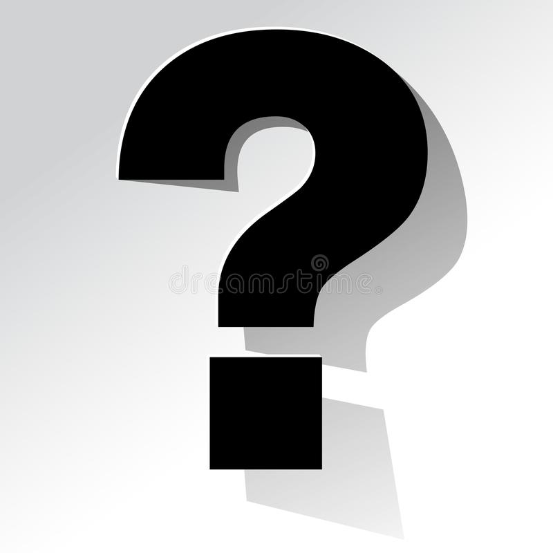 Question Mark black on a white background royalty free illustration