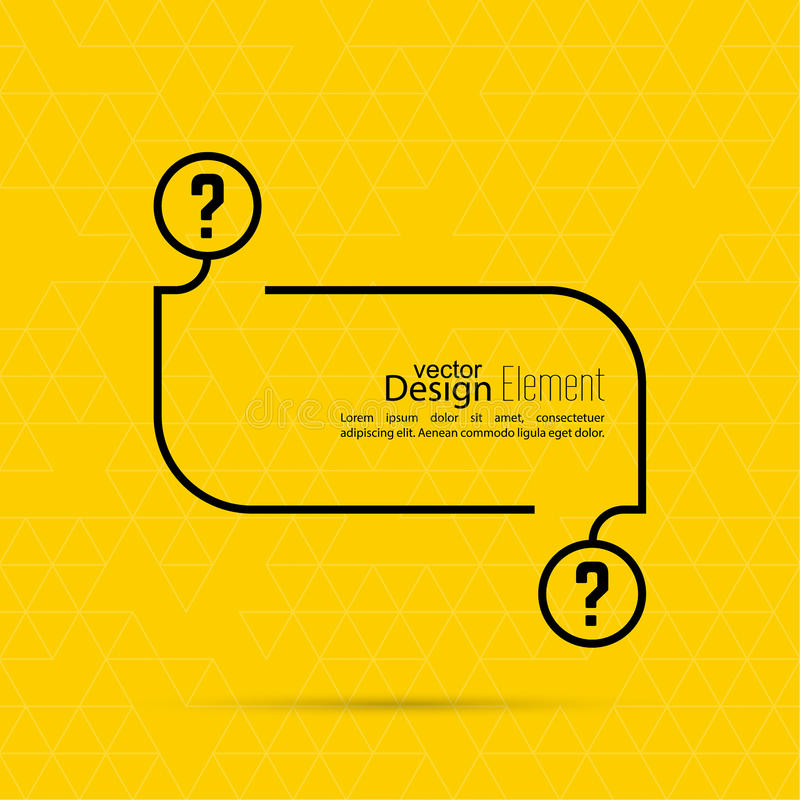 Question Mark Blank Template Stock Vector Illustration Of