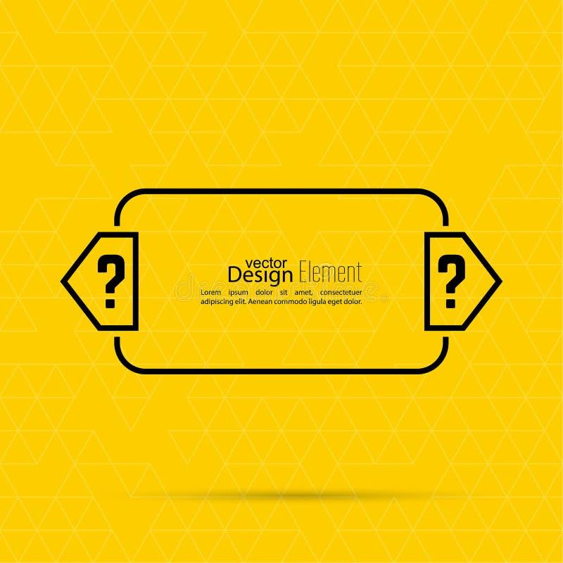 Question Mark Blank Template Stock Vector Illustration Of Design