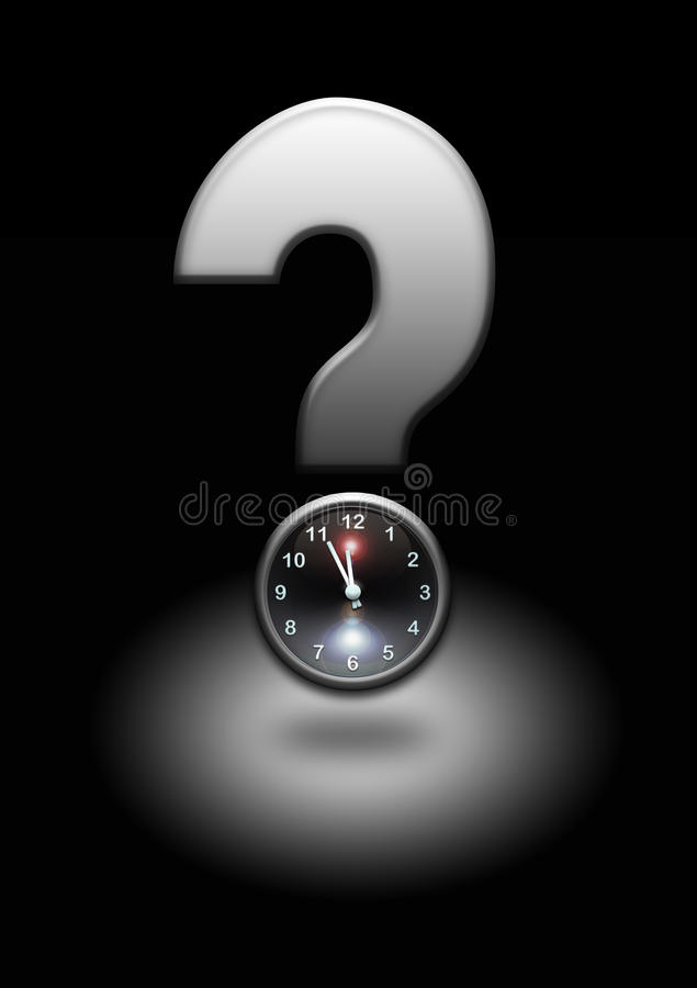 Question mark with clock royalty free illustration
