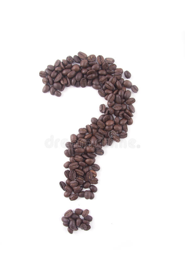 Question Mark Of Coffee Beans Royalty Free Stock Image