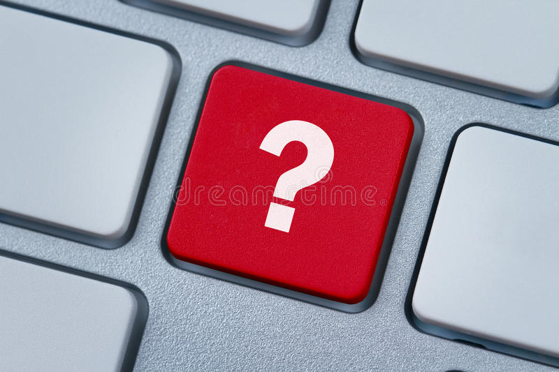 Download Question Mark At The Computer Key Stock Image - Image of keyboard, information: 24541617
