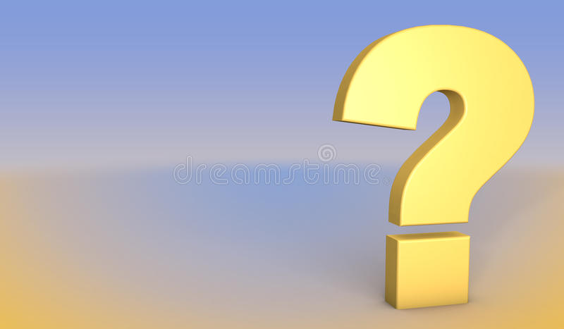 Question Mark concept. 3D illustration royalty free stock photos