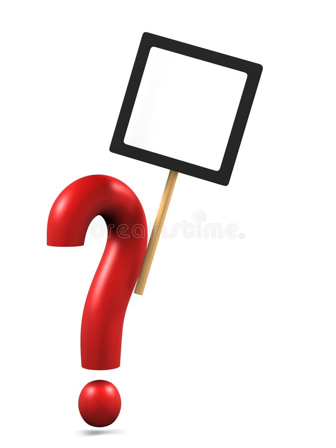Download Question Mark With Copy Space Stock Illustration - Illustration of symbol, help: 9412930