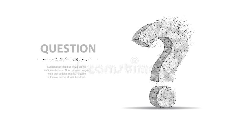 Question mark. 3d abstract vector illustration isolated on white background. Ask symbol. royalty free illustration