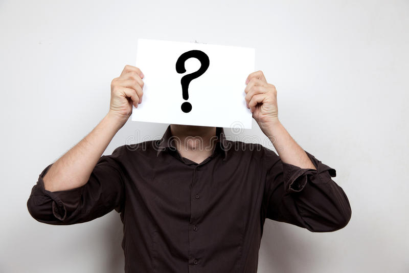 Download Question mark face stock image. Image of solution, cooperation - 33719539