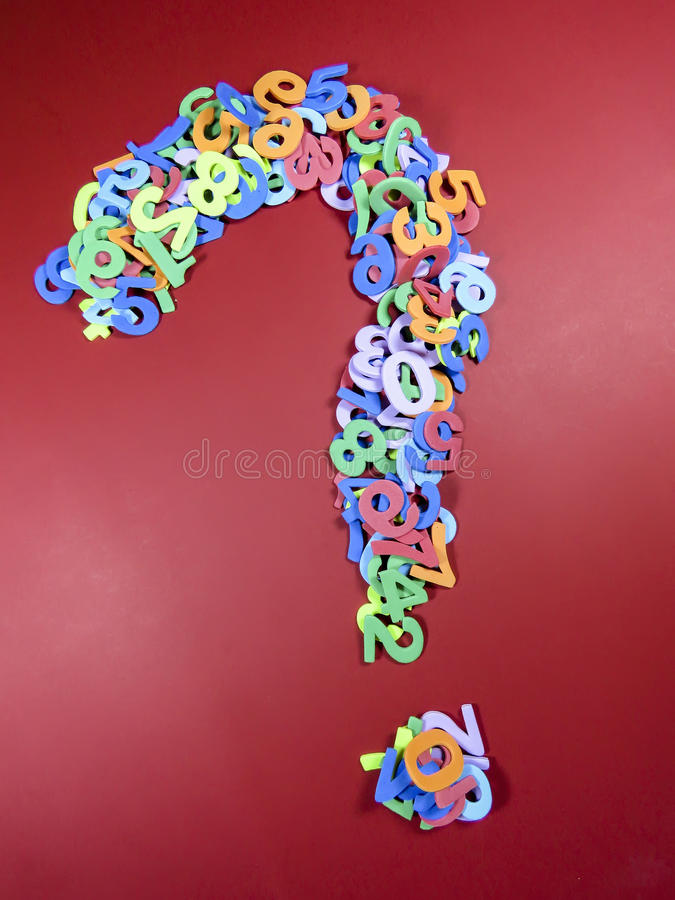 Free Question Mark From Numbers Stock Image - 84833871
