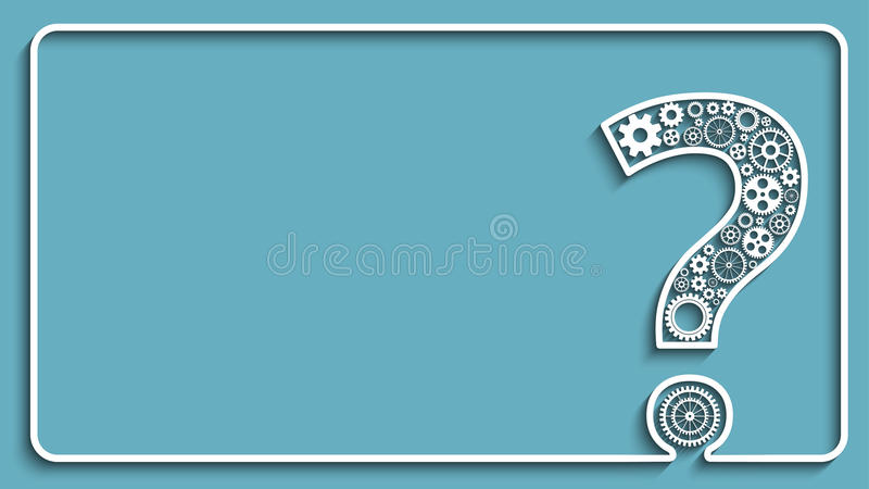 Question mark from gears. Creative Question mark with gears. Creative frame. Eps10 vector for your design
