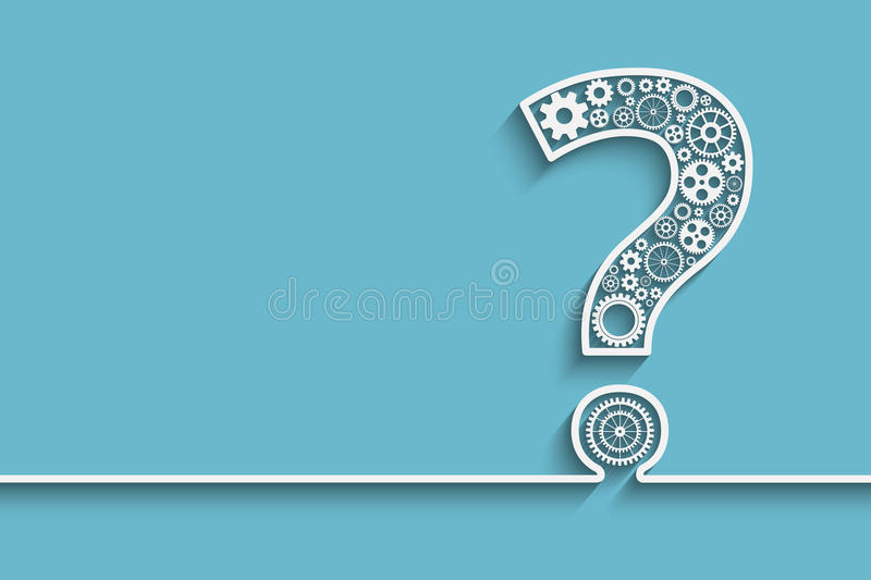 Question mark from gears royalty free illustration