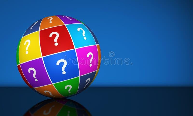 Question Mark Globe vector illustration
