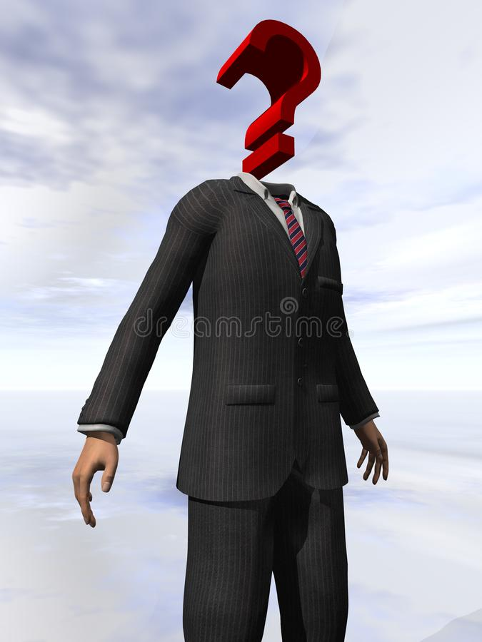 Question Mark Head 4 stock photography